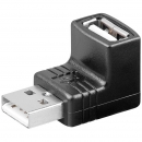 USB Winkel -Adapter 90°; USB 2.0 Hi-Speed